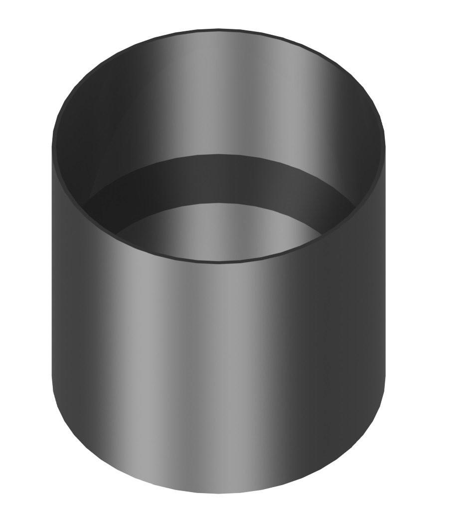 Kachelaansluiting dikwandig 180 mm met condensring