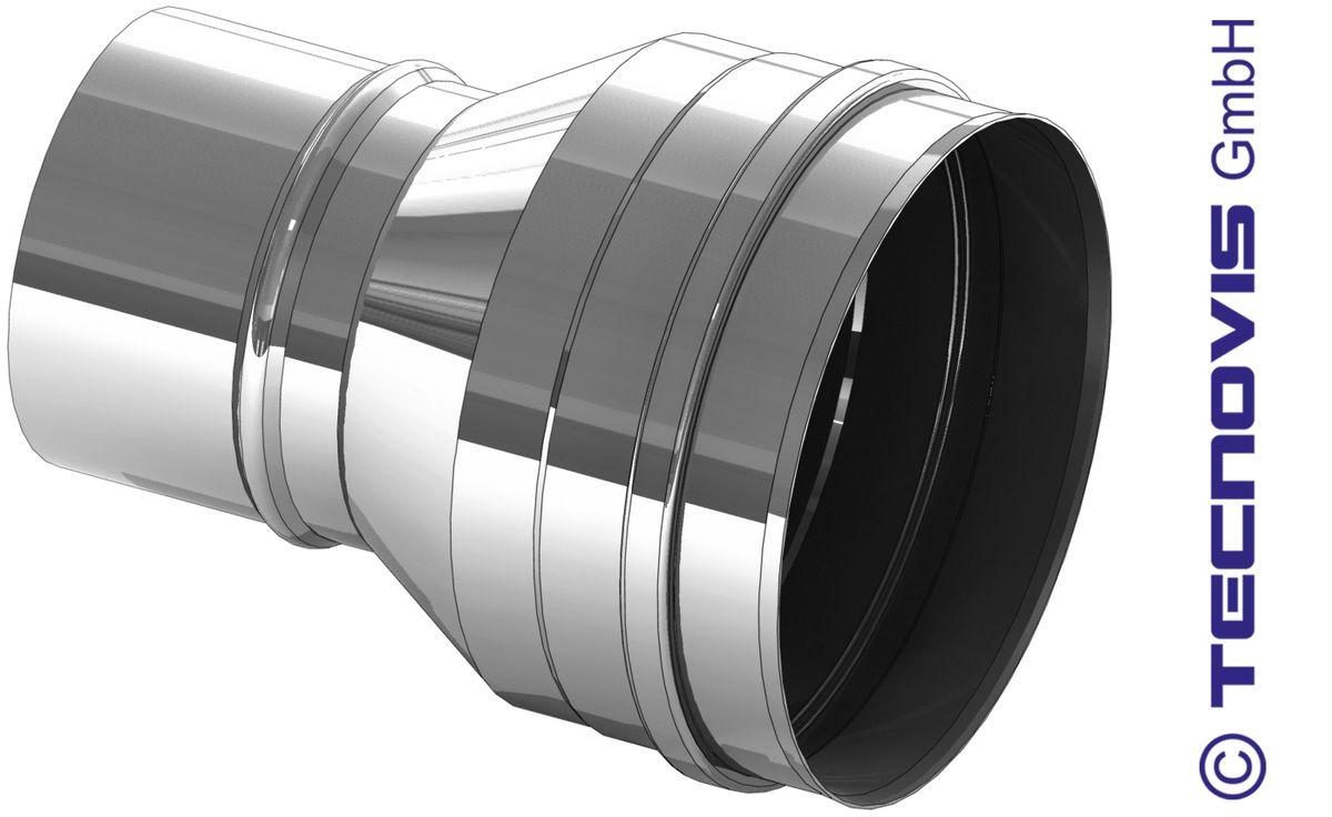 Verbreding RVS 80 naar 100 mm
