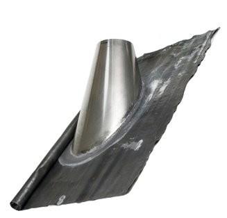Dakdoorvoer 45 - 60° met loodslab en regenkraag