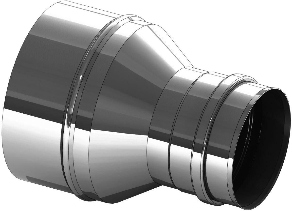 Verbreding RVS 80 naar 150 mm