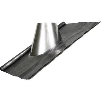 Dakdoorvoer 30 -45° met loodslab en regenkraag