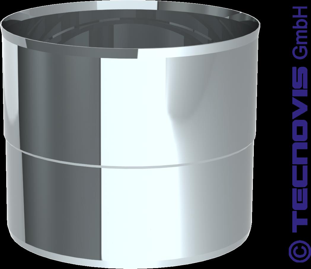 Verloop staal 2 mm (onder) naar flexibel