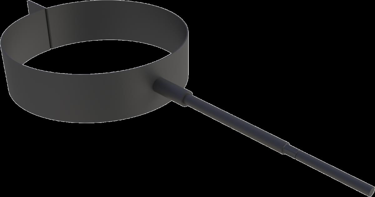 Muurbeugel (zonder draadeind) zwart