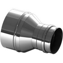 Versmalling inox 200 naar 150 mm